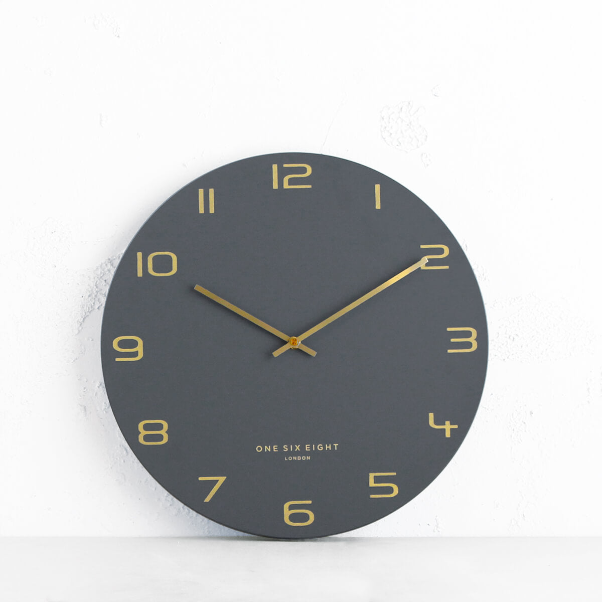 ONE SIX EIGHT LONDON  |  BLAKE WALL CLOCK  |  CHARCOAL | 40CM