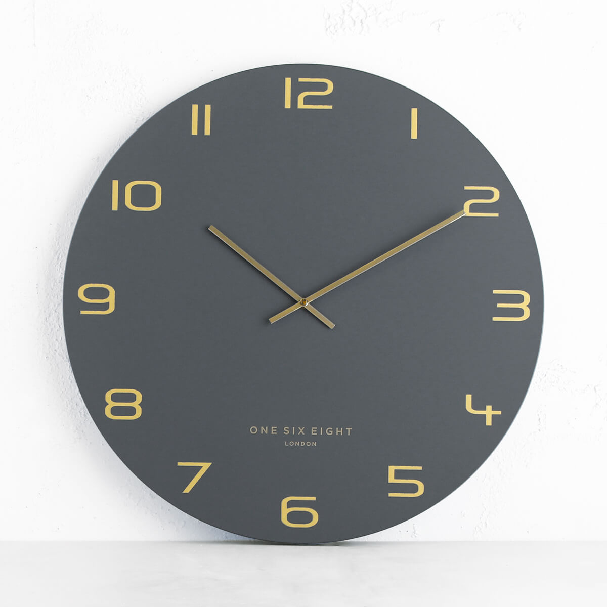 ONE SIX EIGHT LONDON  |  BLAKE WALL CLOCK  |  CHARCOAL | 60CM