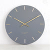 ONE SIX EIGHT LONDON  |  LUCA WALL CLOCK  |  CHARCOAL & GOLD  |  60CM