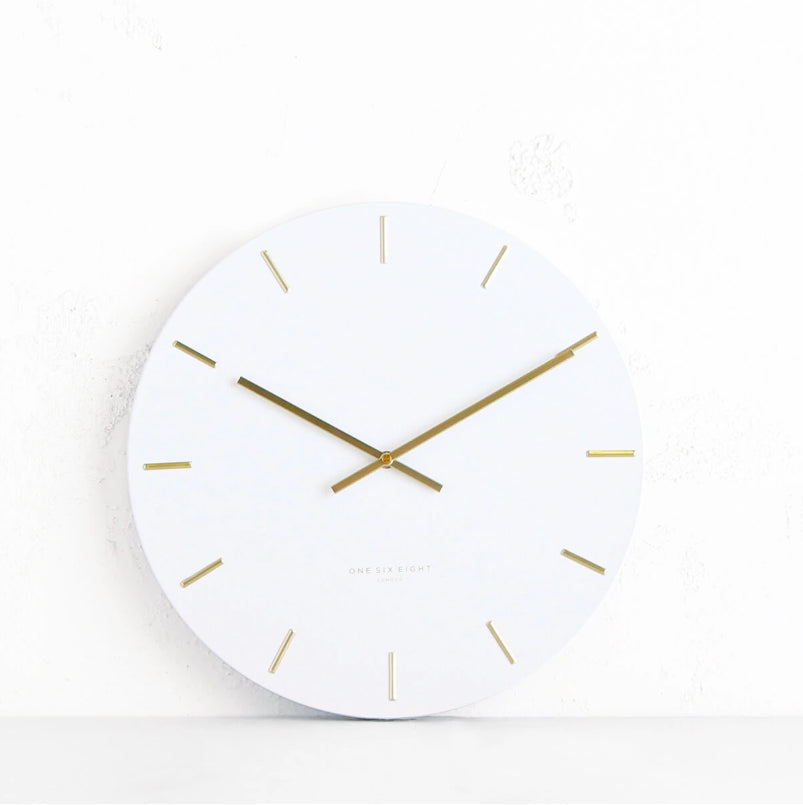 ONE SIX EIGHT LONDON | LUCA WALL CLOCK | WHITE| 40CM