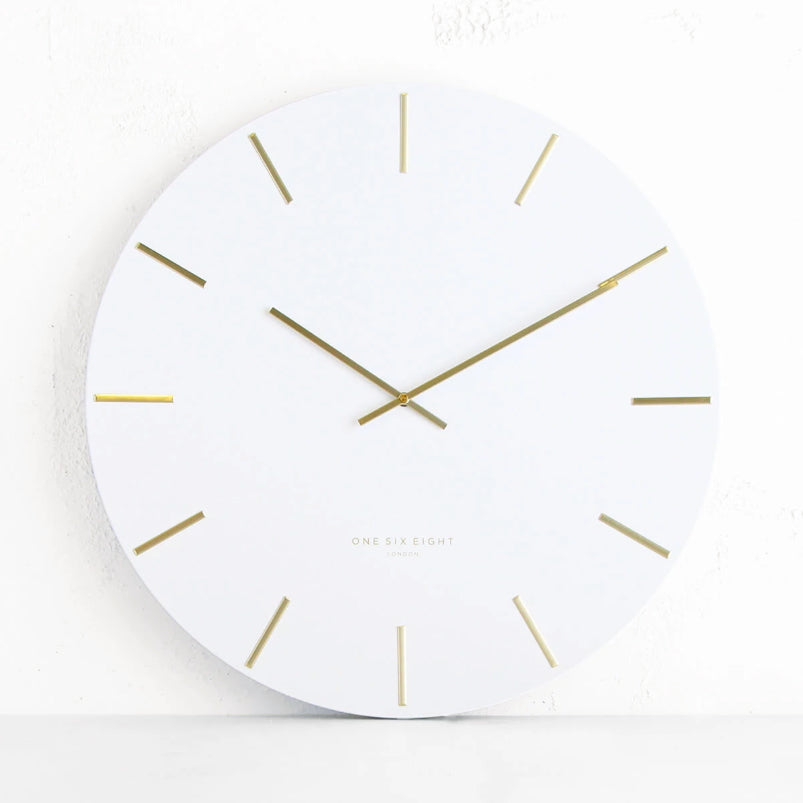 ONE SIX EIGHT LONDON  |  LUCA WALL CLOCK  |  WHITE  |  60CM