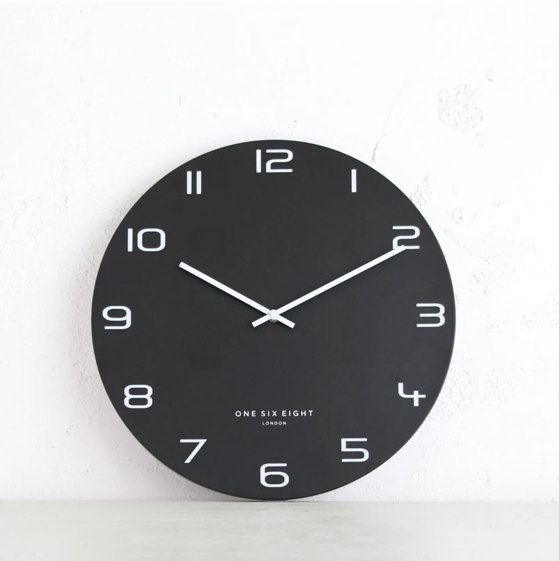 ONE SIX EIGHT LONDON  |  NERO WALL CLOCK  |  BLACK | 40CM