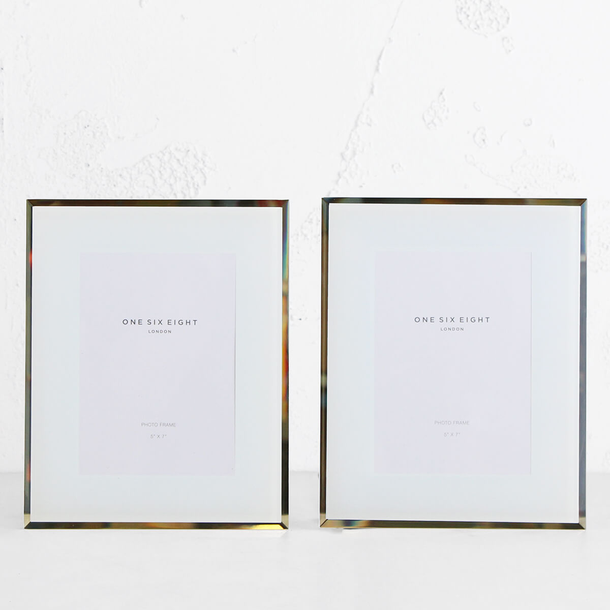 ONE SIX EIGHT LONDON  |  GLASS PHOTO FRAME  | WHITE | 5 x 7 IN. SET OF 2