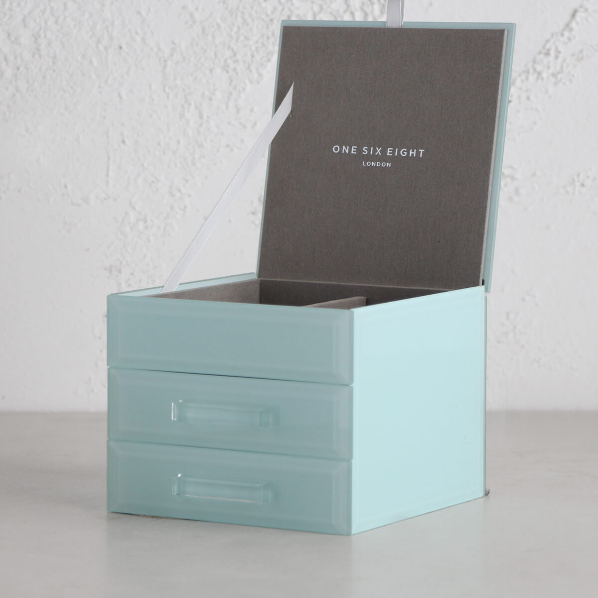 ONE SIX EIGHT LONDON  |  GABRIELLA GLASS JEWELLERY BOX  |  MINT SMALL