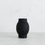 ARENA CERAMIC VASE  |  SMALL BLACK PORCELAIN VASE