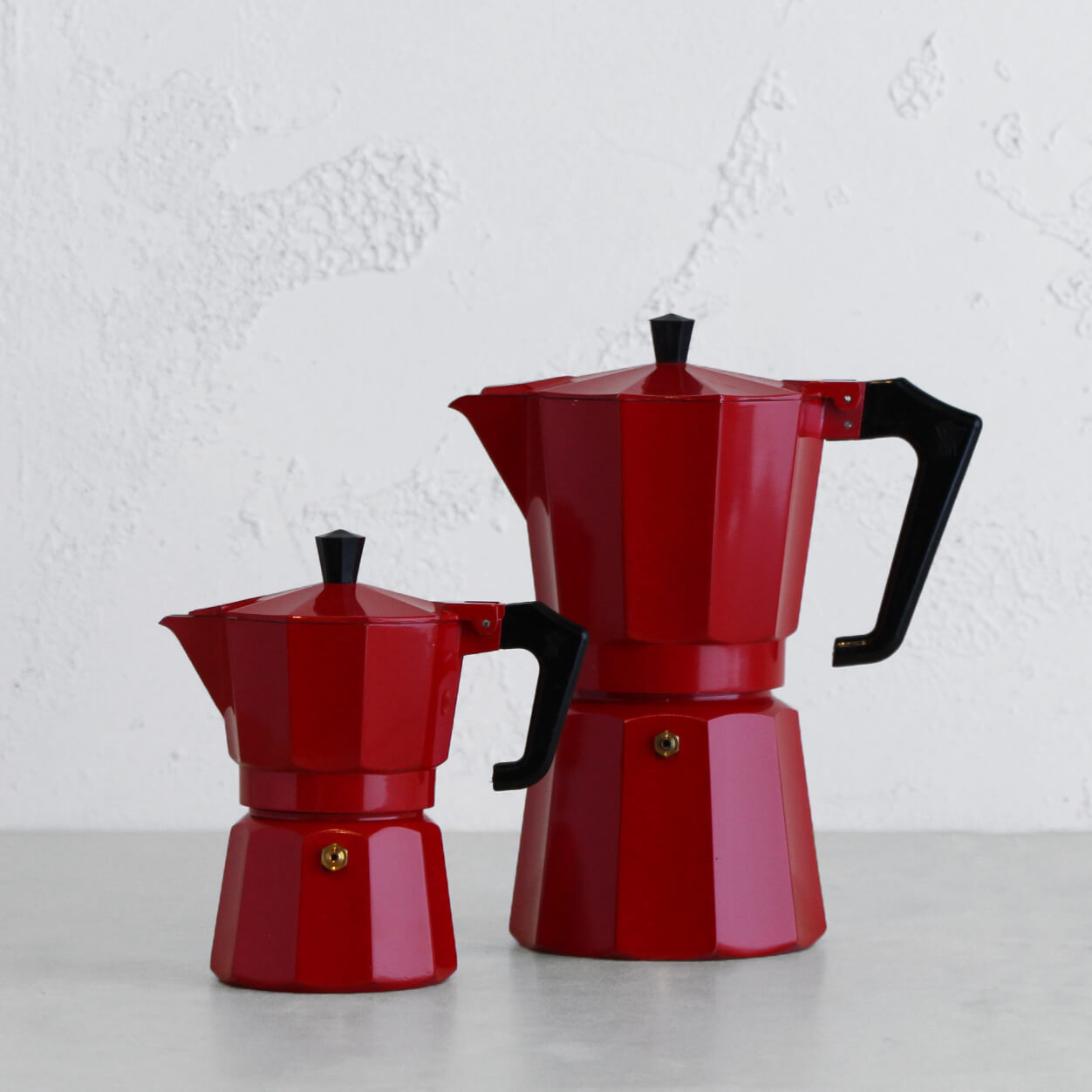 PEZZETTI ITALEXPRESS ITALIAN COFFEE MAKER  |  3 + 9 CUP PACKAGE  |  RED