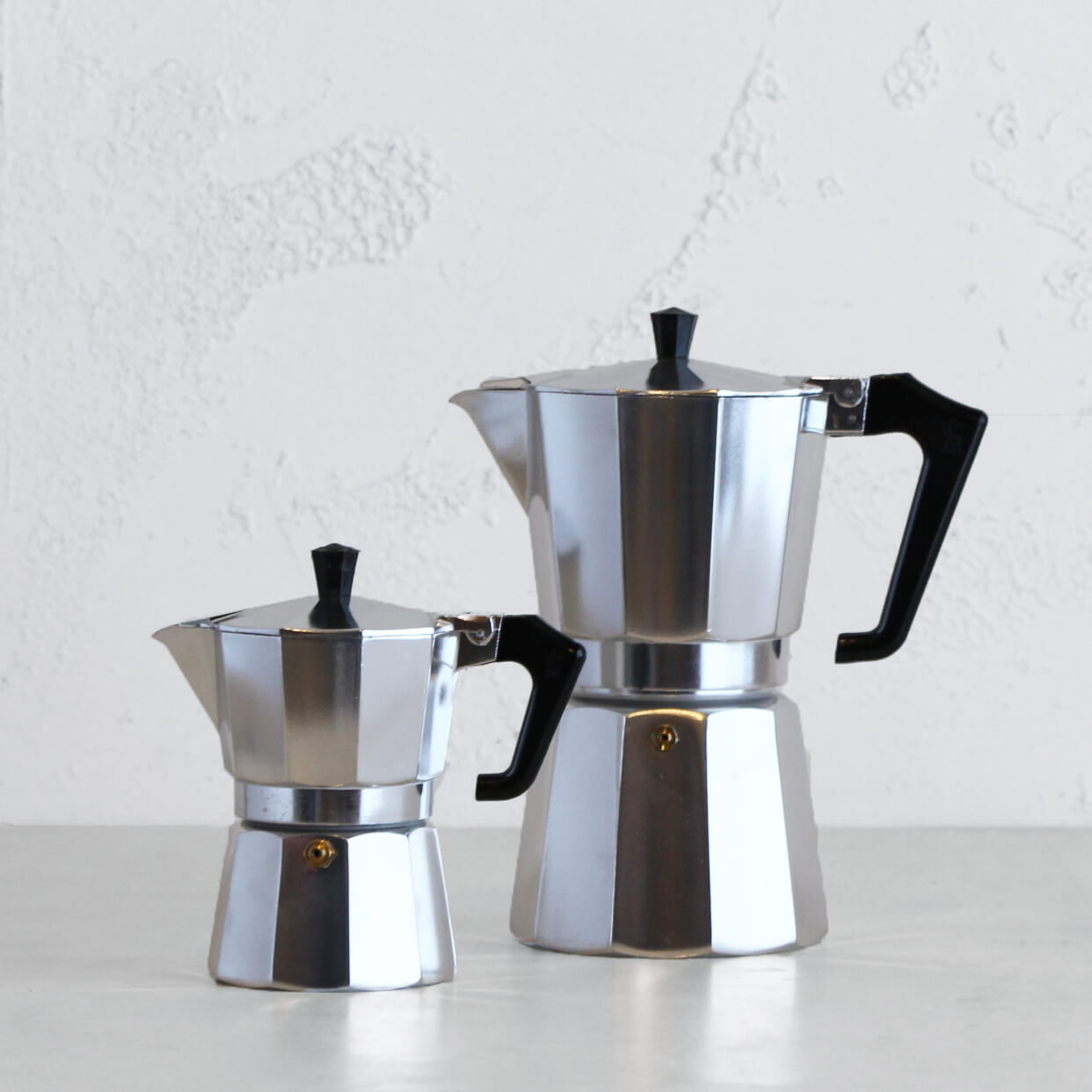 PEZZETTI ITALEXPRESS ITALIAN COFFEE MAKER  |  3 + 9 CUP PACKAGE  |  STEEL
