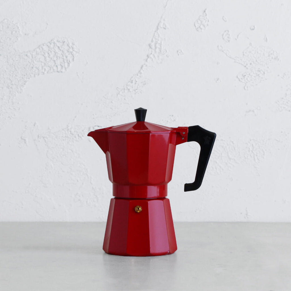 PEZZETTI ITALEXPRESS ITALIAN COFFEE MAKER | 6 CUP | RED