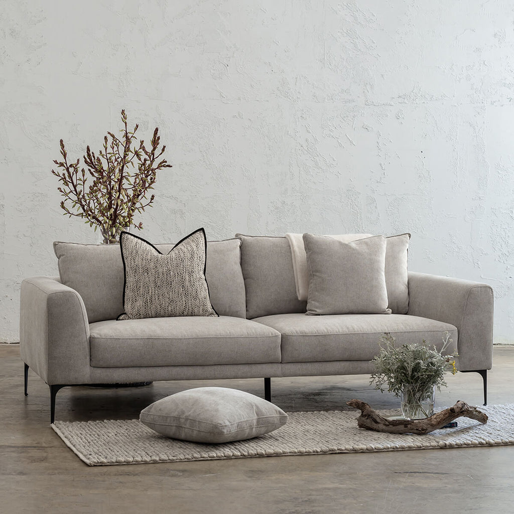 PILOTTI 3 SEATER SOFA  |  FLAGSTONE ASH  |  LOUNGE FURNITURE