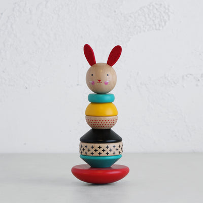 RABBIT WOODEN STACKING TOY