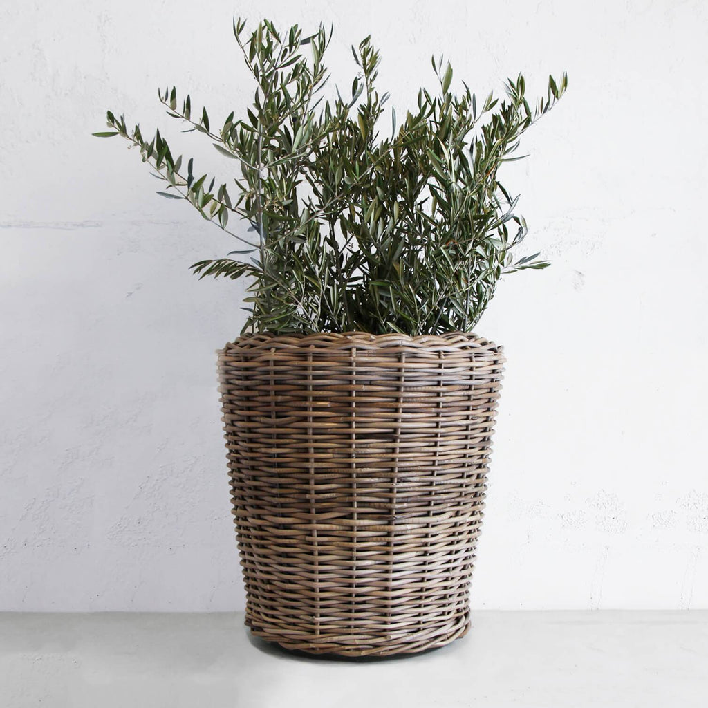RATTAN POT WITH TUB  |  DRY POT   |  LARGE