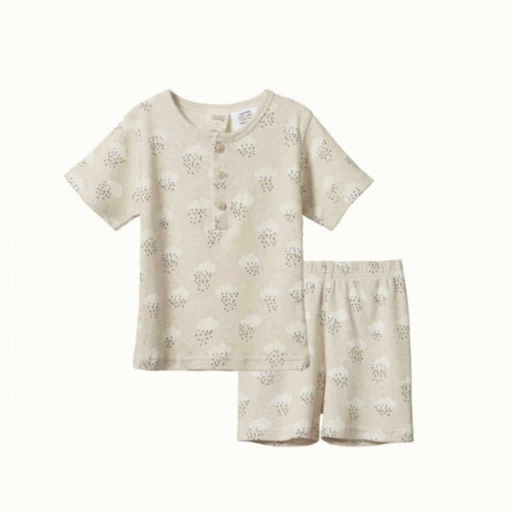 NATURE BABY  |  COTTON PYJAMA SET |  RAIN CLOUD CHILDREN'S SLEEPWEAR