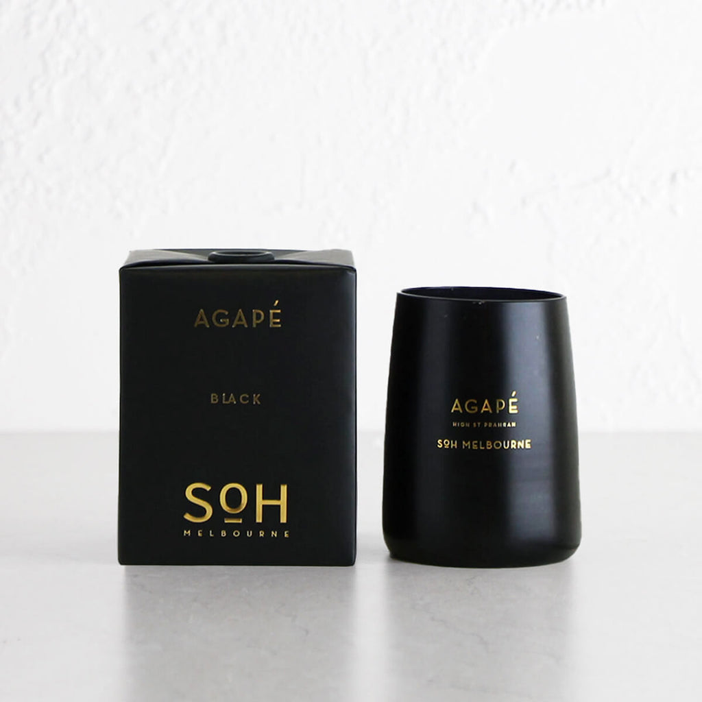 SOH MELBOURNE  |  SOY WAX CANDLE  |  AGAPE BLACK