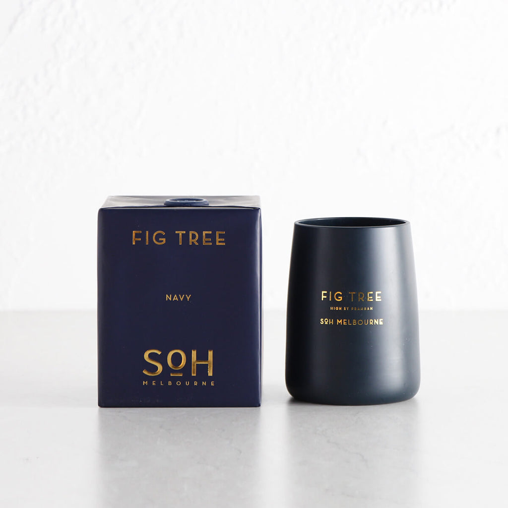SOH MELBOURNE  |  SOY WAX CANDLE  |  FIG TREE NAVY