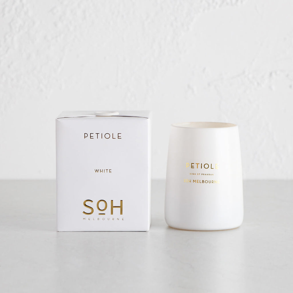 SOH MELBOURNE  |  SOY WAX CANDLE  |  PETIOLE WHITE