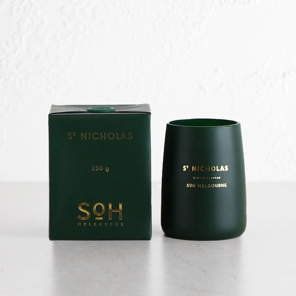 SOH MELBOURNE  |  SOY WAX CANDLE  |  ST NICHOLAS  |  CHRISTMAS CANDLE