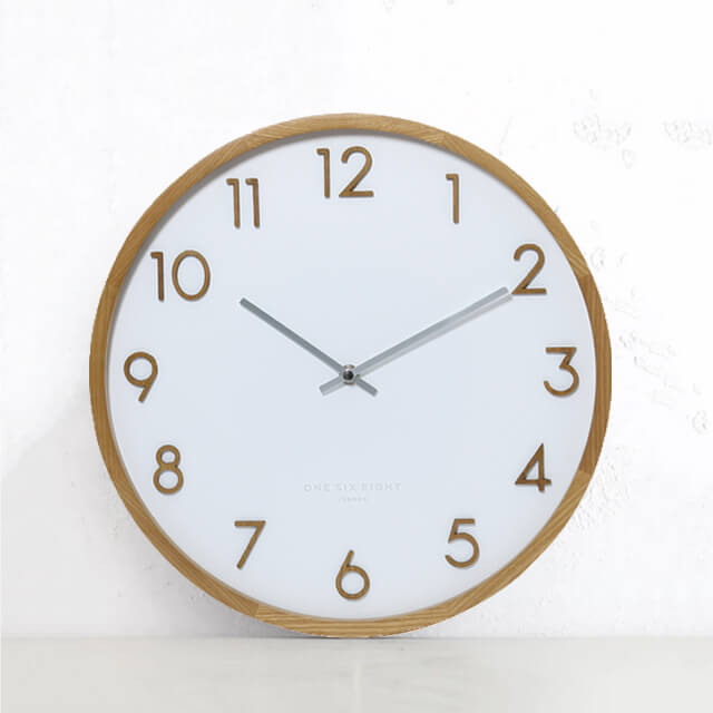 Scarlett silent wall clock White 35cm One Size Eight London