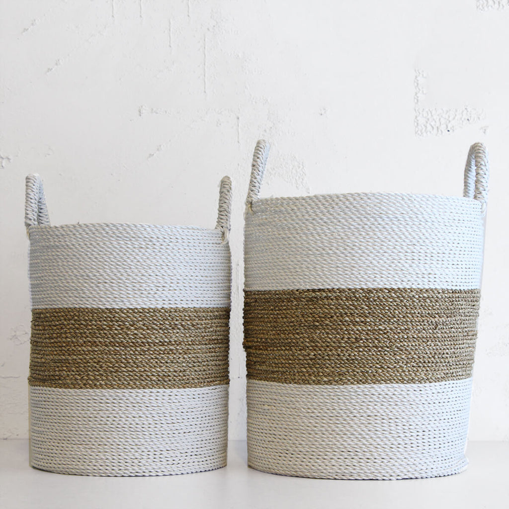 SEAGRASS BASKET   |  GREEN POT PLANT HOLDER  |  STORAGE BASKET