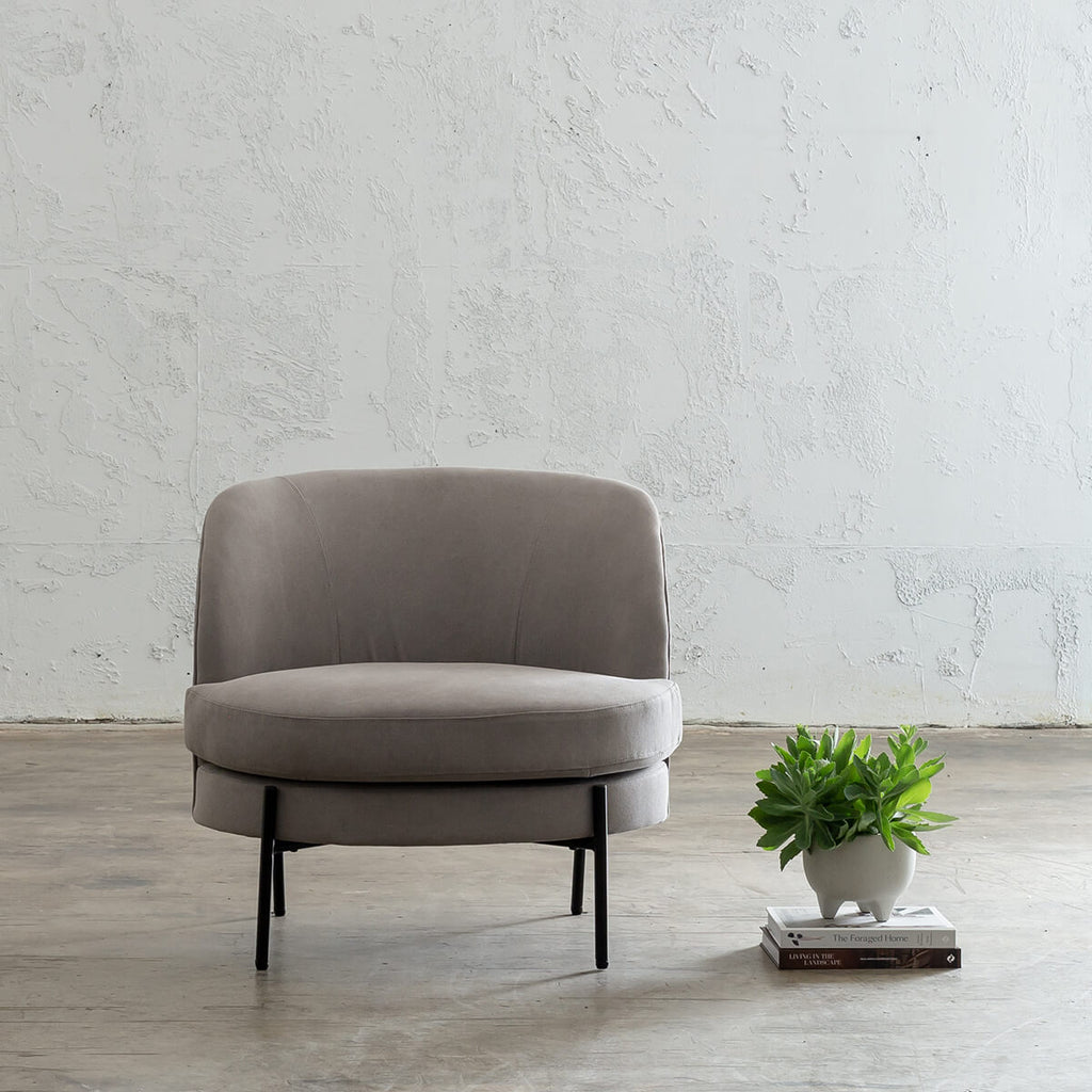 SEVILLA MODERNA TUB CHAIR   |  OYSTER LINEN BEDROOM CHAIR