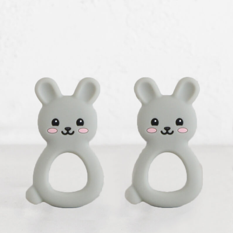 SILIMAMA BABY BUNNY TEETHER  |  GREY  |  BABY TOYS + TEETHERS