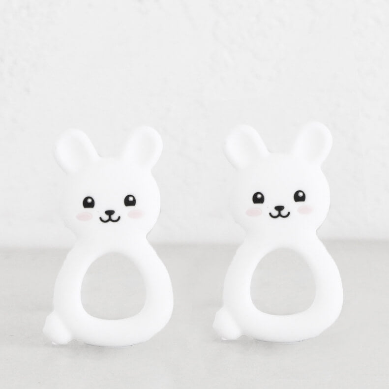 SILIMAMA BABY BUNNY TEETHER  |  WHITE  |  BABY TOYS + TEETHERS