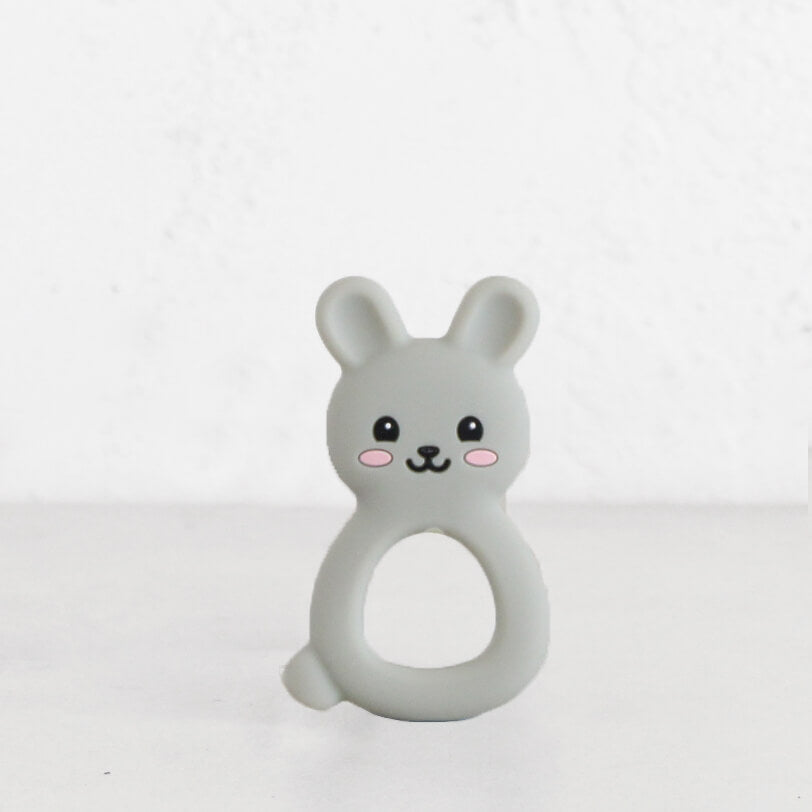 SILIMAMA BUNNY TEETHER  |  GREY  |  BABY TOYS + TEETHERS