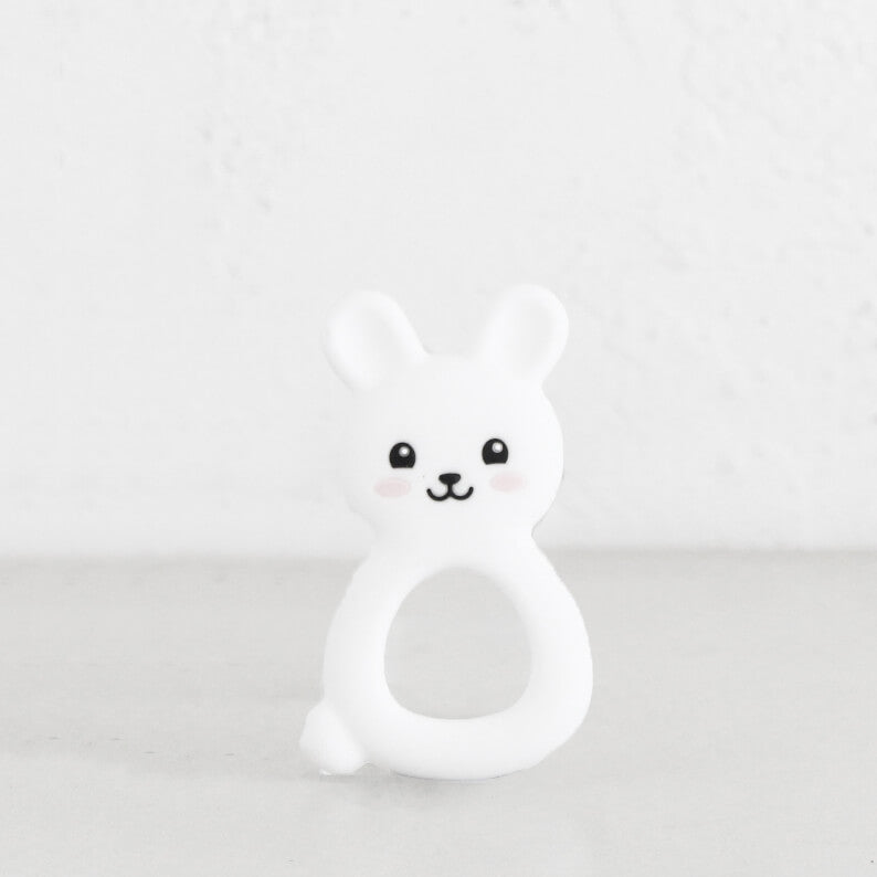 SILIMAMA BUNNY TEETHER  |  WHITE  |  BABY TOYS + TEETHERS