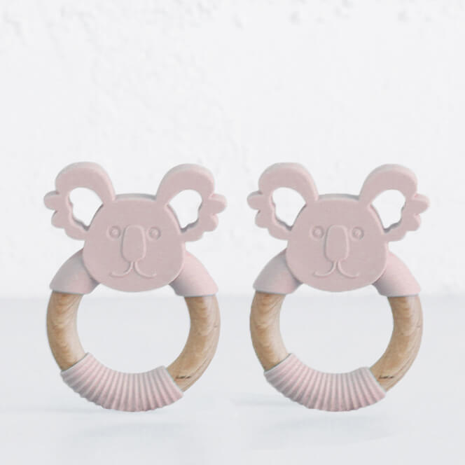 SILIMAMA KOALA TEETHER  BUNDLE  |  BLUSH PINK  |  BABY TOYS + TEETHERS