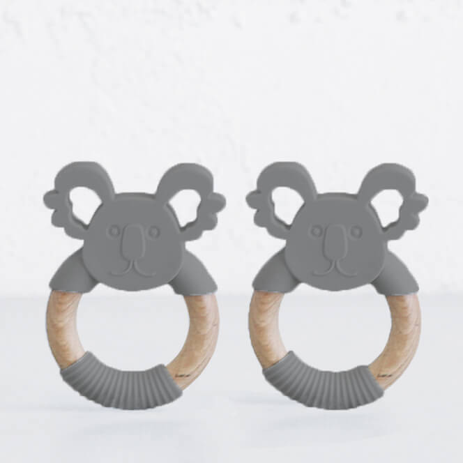 SILIMAMA KOALA TEETHER  BUNDLE  |  DARK GREY  |  BABY TOYS + TEETHERS