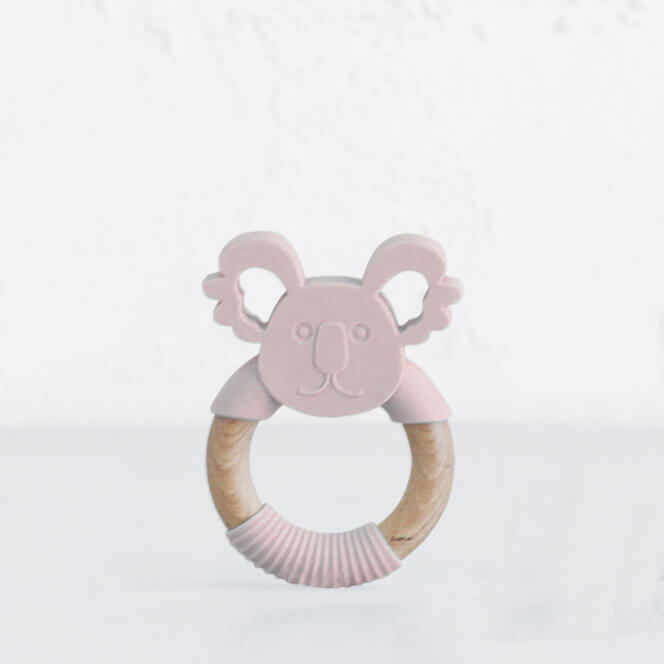 SILIMAMA KOALA TEETHER  |  BLUSH PINK  |  BABY TOYS + TEETHERS