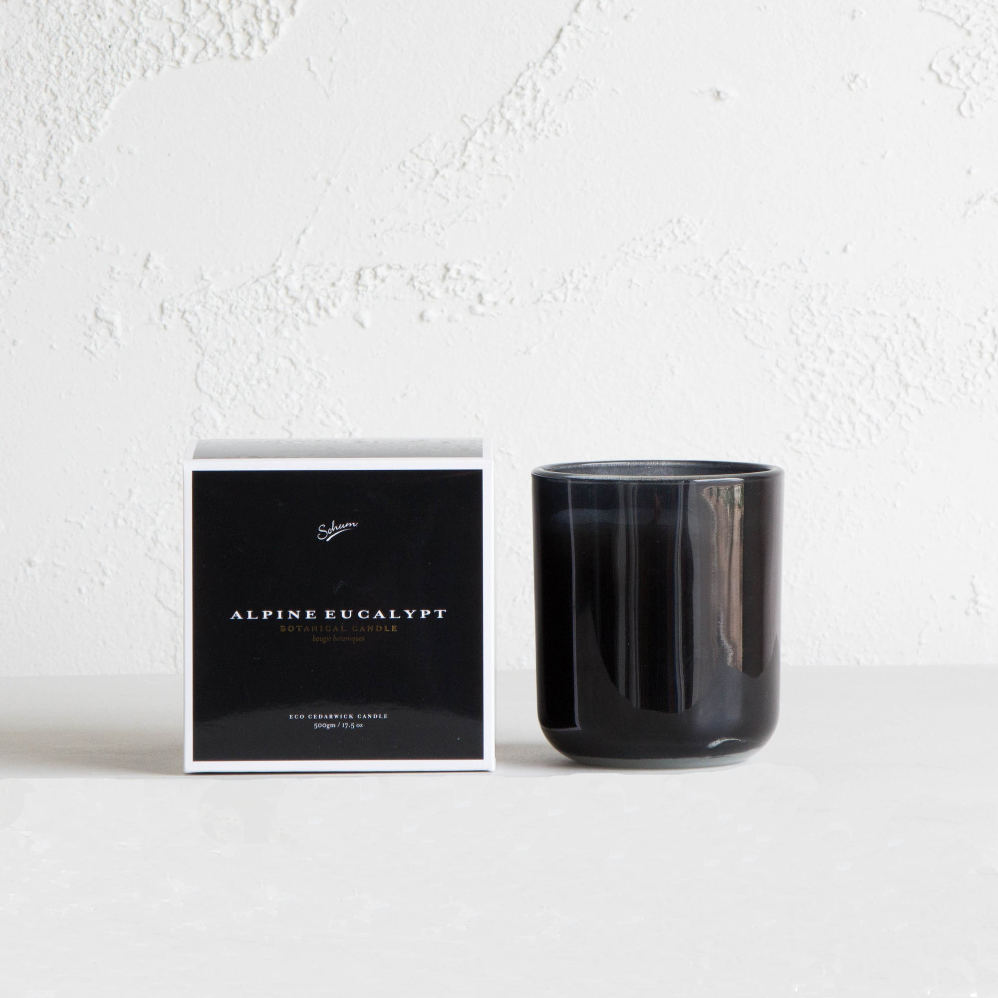 SOHUM ECO CEDARWICK CANDLE  |  SCENTED GLASS CANDLE  | ALPINE EUCALYPT