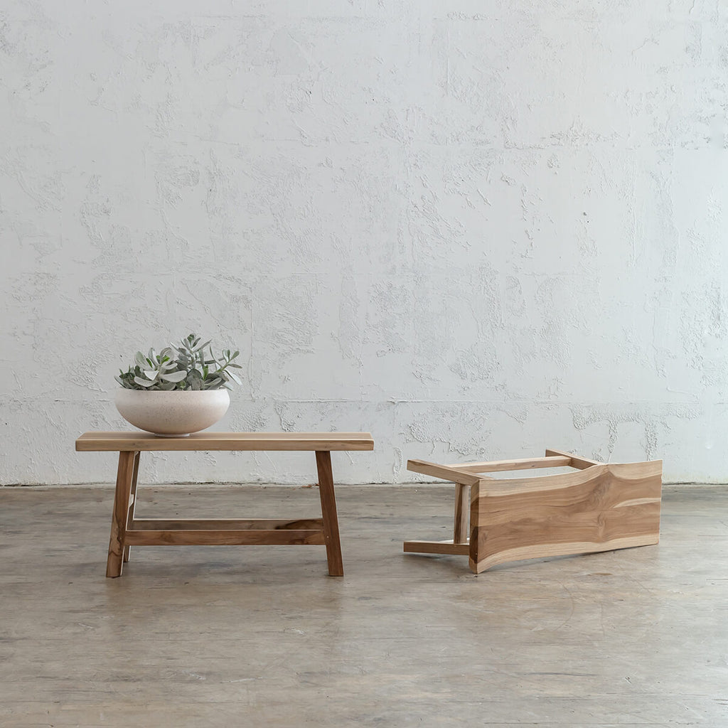 SORENSEN TEAK BENCH  |  TIMBER KITCHEN BENCH  |  HALLWAY BENCH