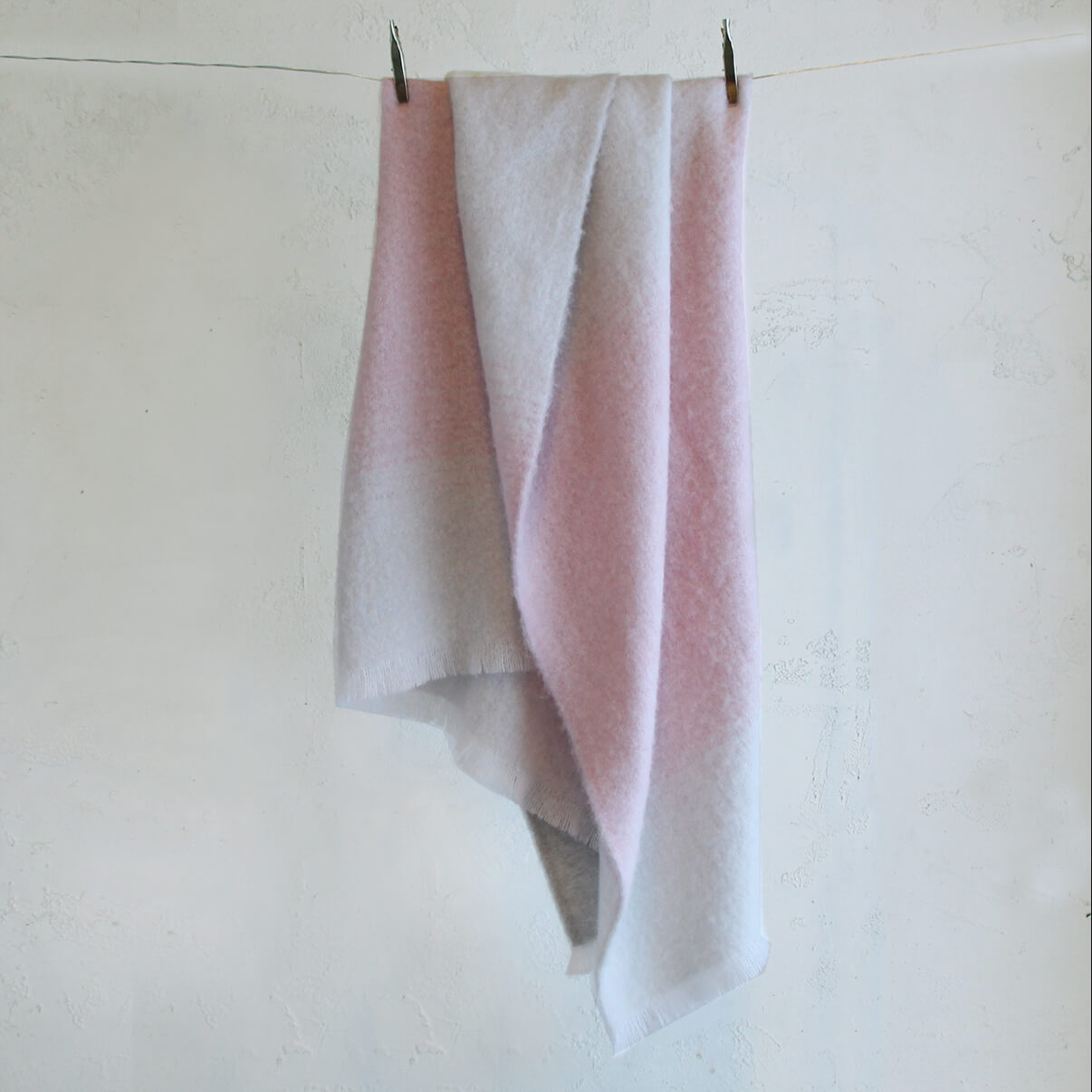 ST ALBANS ALPACA BLANKET THROW  |  PINKSTONE
