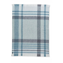 ST ALBANS MOHAIR THROW RUG  |  ELM BLUE  |  WINTER BLANKET
