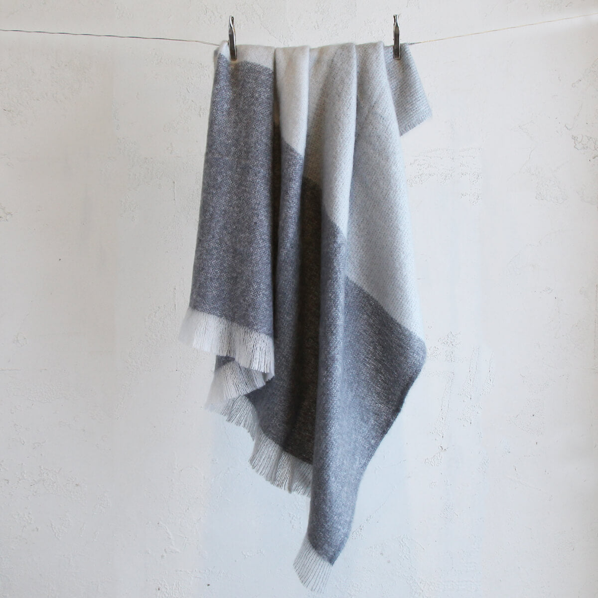 ST ALBANS MOHAIR THROW RUG  |  GHOST