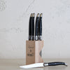 LAGUIOLE ANDRE VERDIER CUTLERY RANGE  |  SERRATED KNIFE SET | BLACK + SILVER