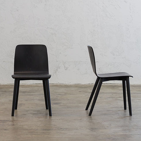 TAMEIRA DINING CHAIR  |  BLACK GRAIN  |  DANISH TAMI DESIGN