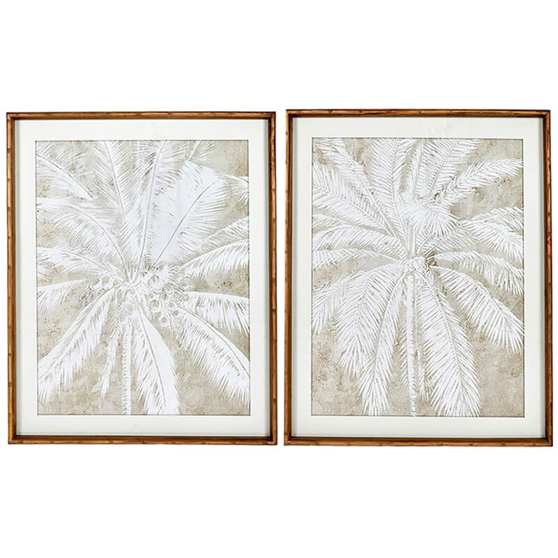 TAMIRA PALM PRINT FRAMED  |  SET OF 2