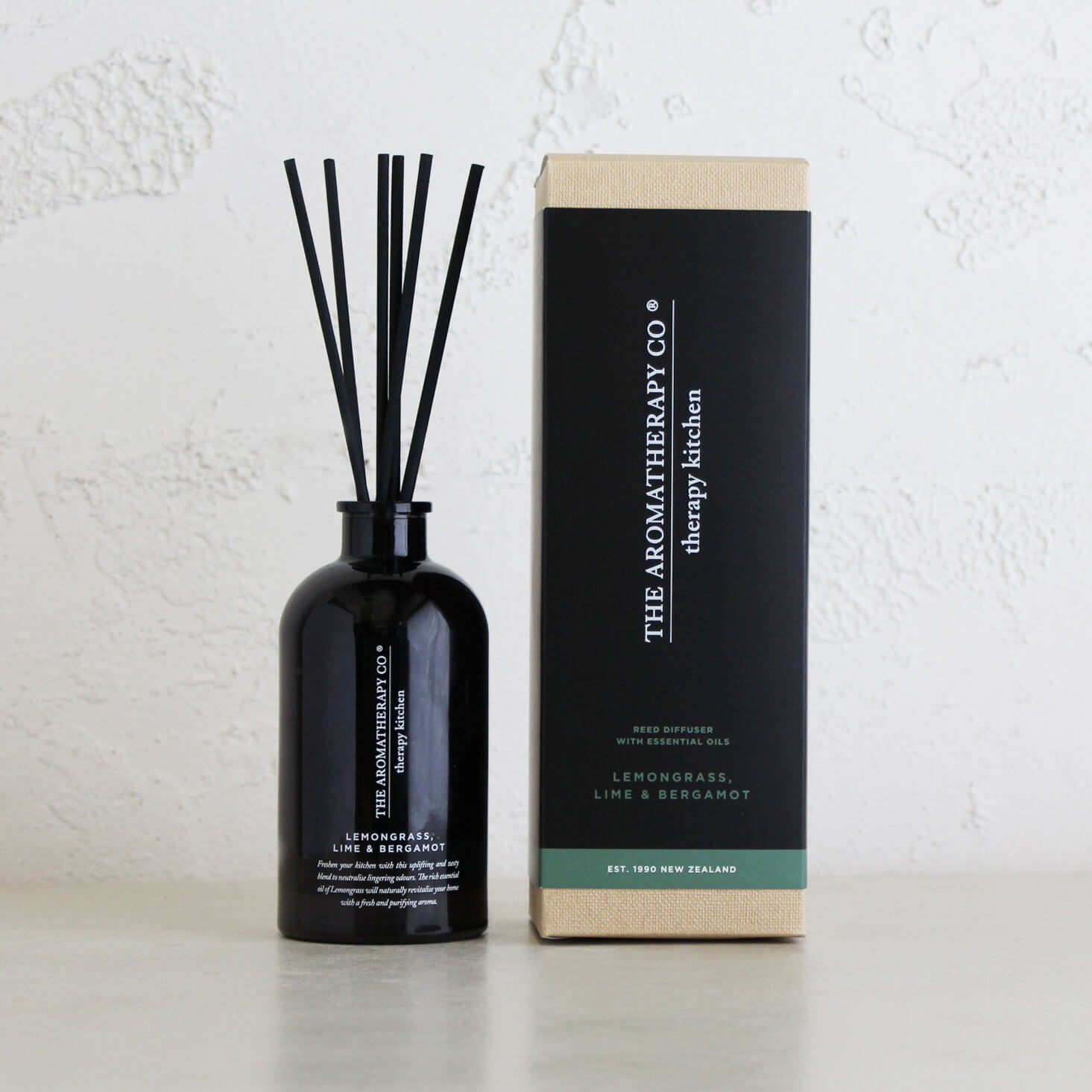 THERAPY KITCHEN DIFFUSER |  LEMONGRASS, LIME + BERGAMOT