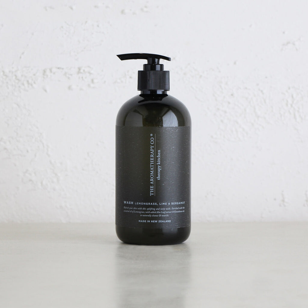 THERAPY KITCHEN HAND + BODY WASH  | LEMONGRASS, LIME + BERGAMOT  |  AROMATHERAPY COMPANY NEW ZEALAND