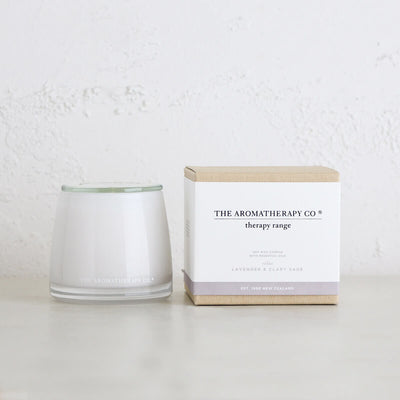 THERAPY RELAX CANDLE  |  LAVENDER + CLARY SAGE  |  AROMATHERAPY CO NEW ZEALAND