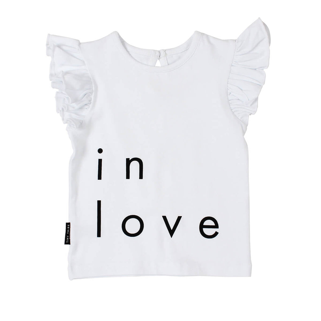 Tiny Tribe In Love White Frill Tank