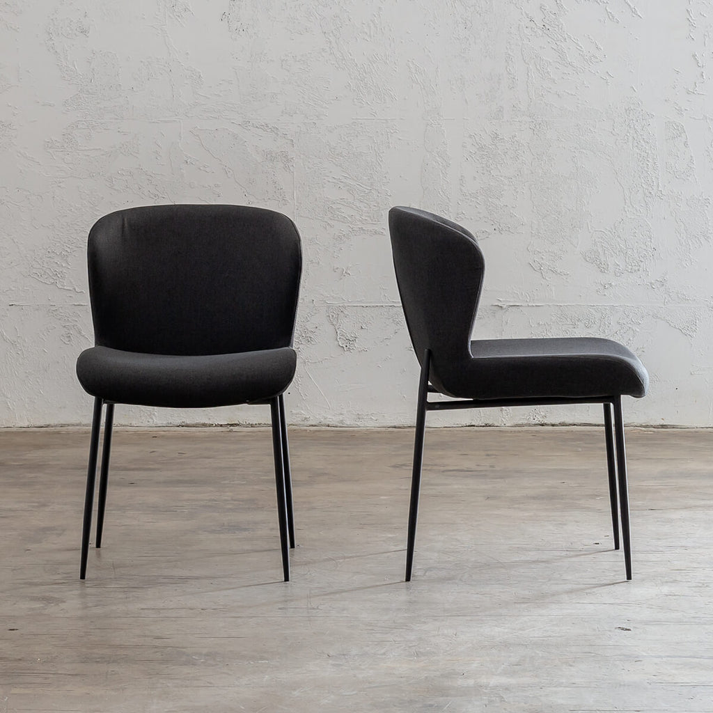 TOURO FABRIC DINING CHAIR  |  ANTHRACITE |  FABRIC DINING CHAIRS