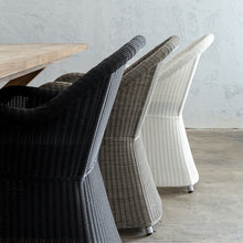LECCO HAMPTON INSPIRED RATTAN WOVEN VERONA CHAIR | CARBON BLACK WICKER  3 COLOURS