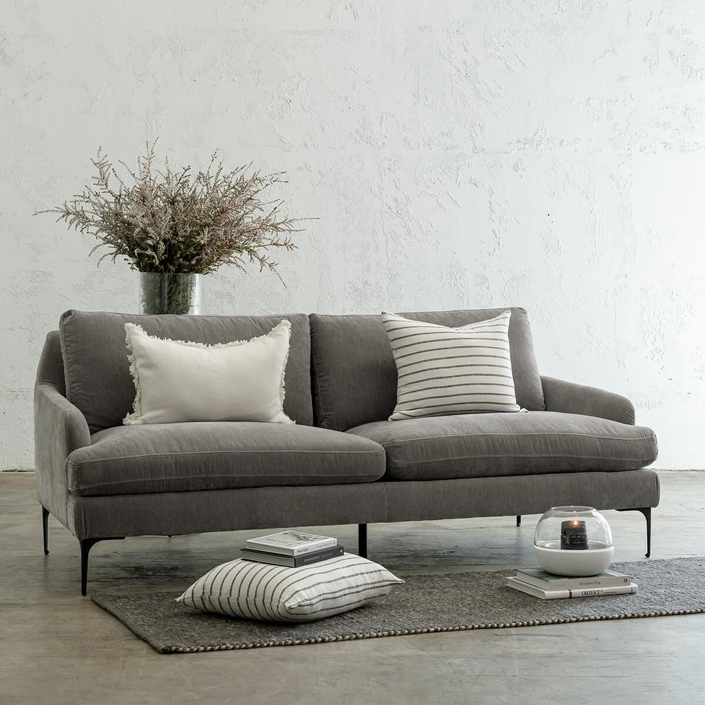 VITTORIA 3 SEATER SOFA | WATERMARK GREY