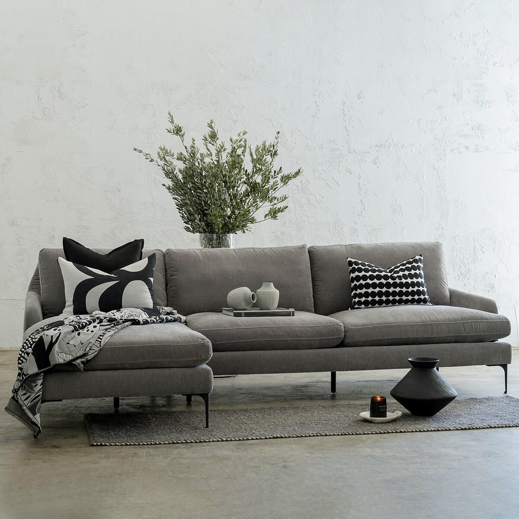 VITTORIA MODULAR SOFA CHAISE  |  WATERMARK GREY