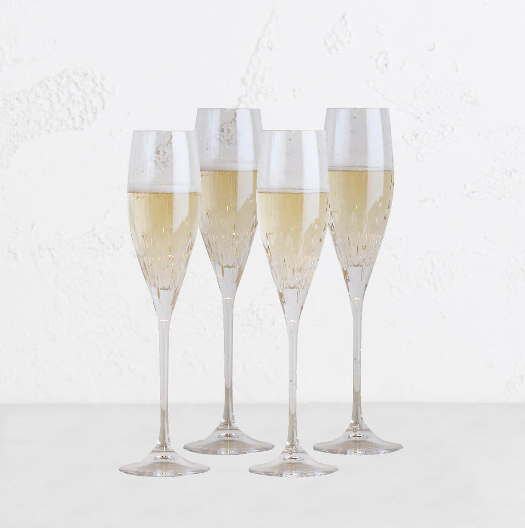 Vera Wang Duchesse Crystal Champagne Flute Pair | Set 4 Box | Wedgwood‎