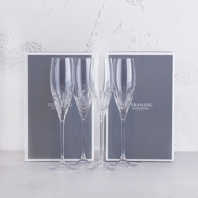 WEDGEWOOD  |  VERA WANG DUCHESS CHAMPAGNE FLUTE  |  SET OF 4