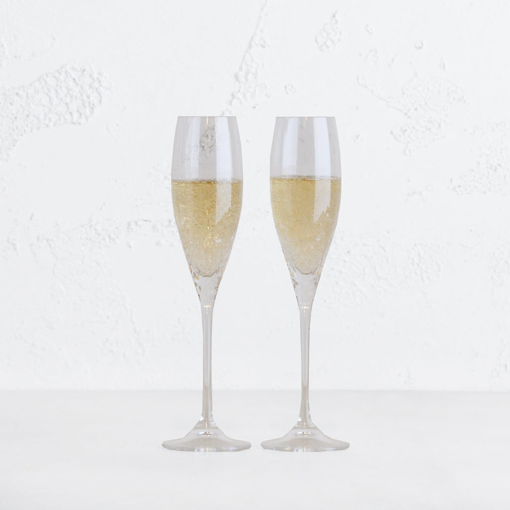 VERA WANG  |  SEQUIN CHAMPAGNE FLUTE PAIR  | WEDGEWOOD | BRIDAL