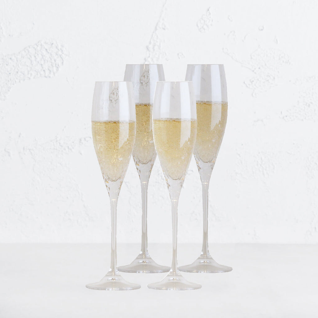 WEDGEWOOD  |  VERA WANG SEQUIN CHAMPAGNE FLUTE  |  SET OF 4